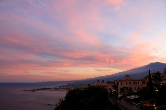 Taormina sunset (with a view of Mt Etna)