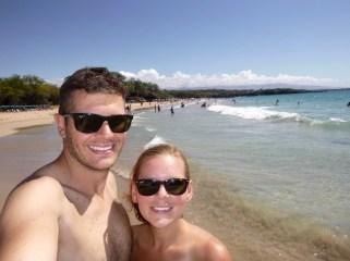 Hawaii Big Island - Hapuna Bay, nice beach for swimming