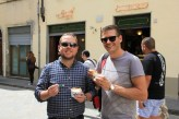 Matt and Ben enjoying some gelato in Florence
