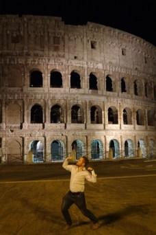 Matt posing in our Colosseum night shots