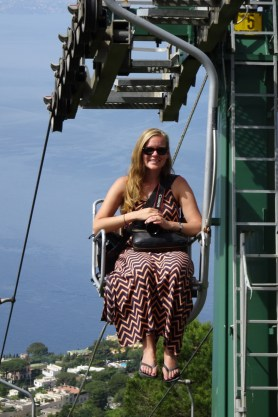 Anna on the Anacapri chairlift