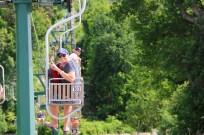 Ben and Matt on the chairlift in Anacapri