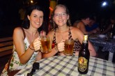 Greta and Anna with some Lion beer