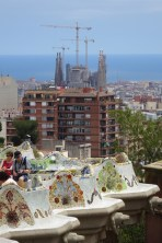 Park Guell - view of the Sagrada Familia in the background
