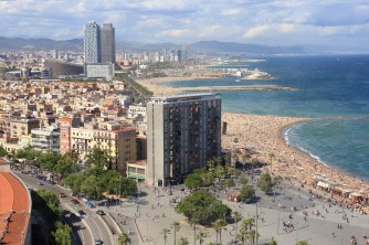Barcelona beach (view from the cable car)