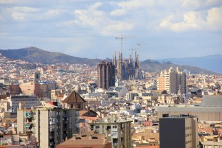 Barcelona view of La Sagrada Familia
