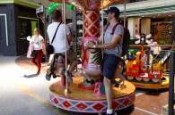 Matt and Ben goofing around in Seville