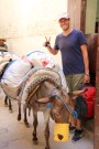 Ben in Fez - we had to stop continuously in the medina to let donkeys pass by