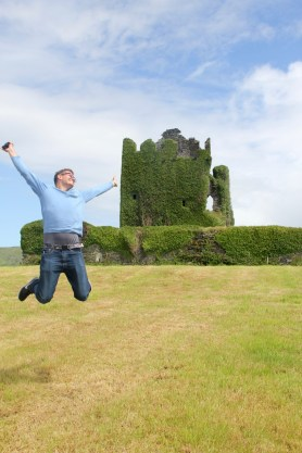 Ben at the Ballycarbery Castle ruins
