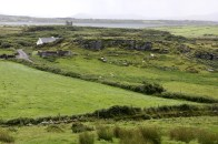 View of the Ballycarbery Castle ruins from one of the nearby stone fortresses