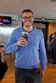 Ben enjoying his free pint at the Guinness storehouse