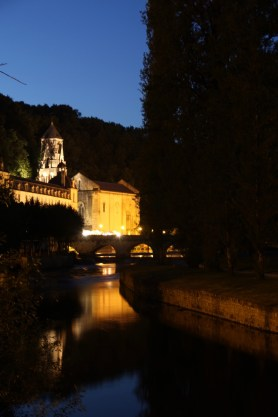 Brantome view of the abbey