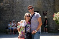 Ben with his Mum in Carcassonne