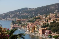Views along the coastal route from Nice to Monaco