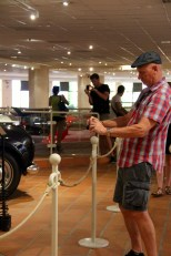 Like father like son .. at the Prince of Monaco's vintage car collection