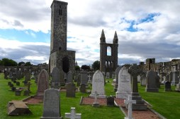 St Andrews Cathedral - when it was abandoned the local residents started using it as a cemetery