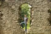 Ben at Huntly Castle