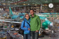 Boeing factory tour in Seattle (pictures weren't allowed but we got this free souvenir)