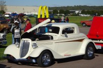 Classic car show outside a McDonald's in Sioux City