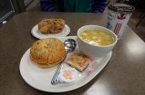 Tim Hortons dinner - happy to be back in Canada!
