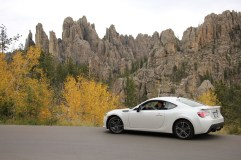 Our BRZ in Custer State Park (at the Cathedral Spires)