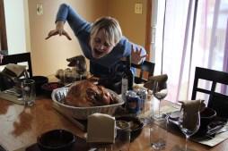 Marlena with her amazing turkey