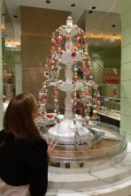 Anna admiring the dessert selection at the all-you-can-eat buffet at the Wynn hotel