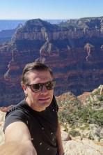 Ben climbed out onto a ledge at the Grand Canyon National Park (North Rim), Arizona