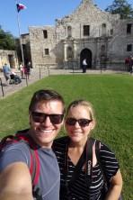 Selfie at the Alamo, San Antonio, Texas