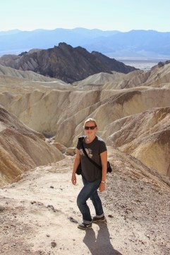 Anna at the end of our hike at Death Valley National Park