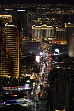 Night view of the Las Vegas Strip from the Stratosphere