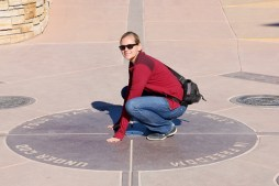 Anna at the Four Corners monument
