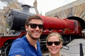 Selfie with the Hogwarts Express at Universal's Island of Adventure in Orlando, Florida