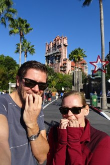 That's genuine fear (for me) before getting on the Tower of Terror at Disney's Hollywood Studios, Orlando, Florida