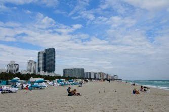 Miami Beach, Florida - it was a little too cold for a swim
