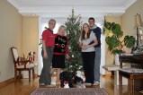 Guzowski family Christmas tree 2016 (we even got Brownie to pose!)