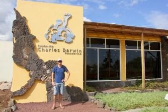 Ben at the Charles Darwin research centre on Santa Cruz Island, Galapagos