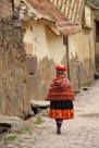 A woman in traditional dress, Ollantaytambo, Peru