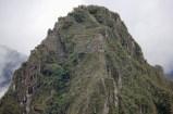 View of Huayna Picchu (ruins much higher up the mountain) from Machu Picchu, Peru