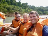 Speedboat to go under the falls, Iguazu Falls, Brazil
