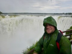 Matt at Iguazu Falls, Argentina