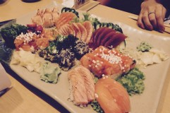 Sushi platter, yum!