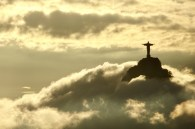 View of the Christ the Redeemer statue from Sugar Loaf Mountain, Rio de Janeiro
