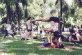 Acroyoga in a park in Buenos Aires