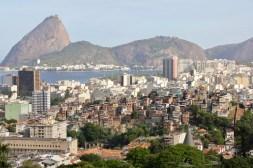 View of Sugar Loaf Mountain (and a favela) from Parque das Ruinas, Rio de Janeiro