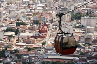 View of Salta from the top of the teleferico, Argentina