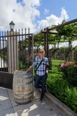Anna at Finca Agostino winery, Lujan de Cuyo, Argentina