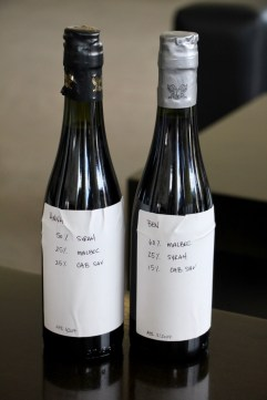 Ben and I each made our own blends at Bodega Lopez, Maipu, Argentina