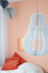 Wand in Apricot plus Lampe - annablogie