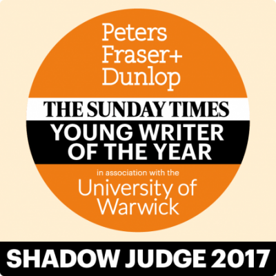 The PFD Sunday Times Young Writer of the Year 2017 - Shadow Judges' winner!